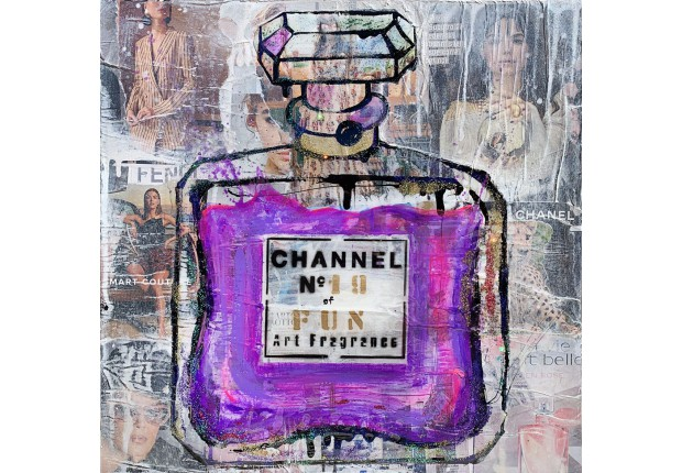 CHANNEL PURPLE OF FUN  19 50x50cm